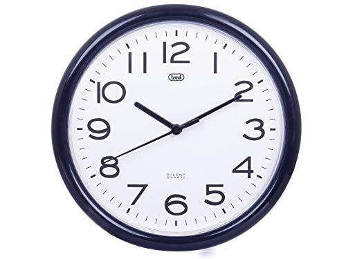 Trevi OM 3301 Orologio da Muro al Quarzo con Movimento Silenzioso Sweep, Diametro 24 cm, Nero