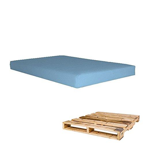 Arketicom Cuscino per Pallet Bancali Seduta 120x80x10 Celeste Azzurro Arredamento Esterno Moderno...