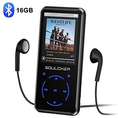Lettore MP3,16GB Bluetooth Portatile Lossless Sound MP3 Lettore Musica, Digital Audio MP3 Player con...