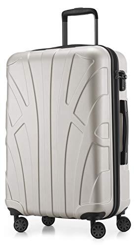 SUITLINE SUITLINE - Hartschalen-Koffer Koffer Trolley Rollkoffer Reisekoffer, TSA, 66 cm, Bagaglio a...
