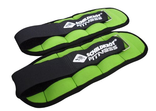 Schildkröt Fitness 960001 Confezione Cavigliere/Polsiere Zavorrate da 0,5Kg, Verde
