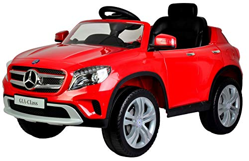 Toy House Officially Licensed Mercedes-Benz GLA Rechargable Battery Operated Rideon Car for Kids ( 2 to 7 Yrs), Red