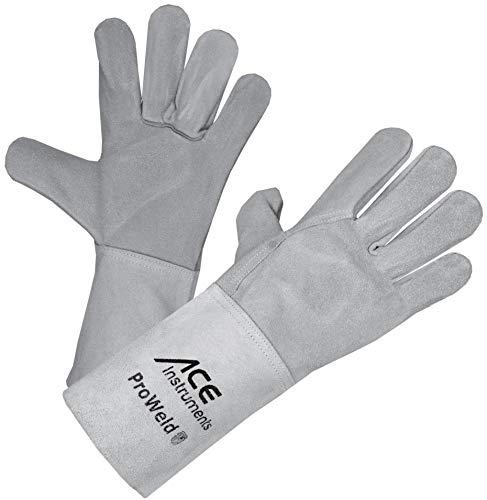 ACE ProWeld - Guanti da saldatore leggeri EN 388 & EN 12477, protezione da scintille, calore e...
