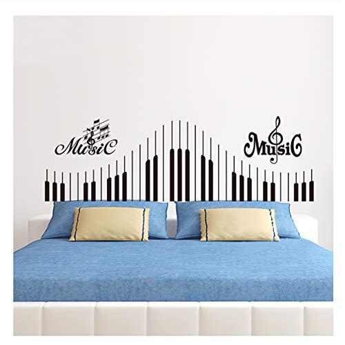 Decalcomania da tastiera per pianoforte, nota musicale adesivo da parete in vinile musical rock...