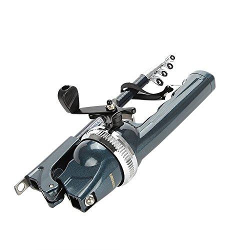 VGEBY canna da pesca Reel Combos, in acciaio inossidabile portatile pieghevole telescopica canna da pesca con mulinello kit