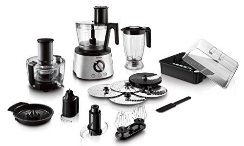 Philips Cucina HR7778/00 Robot da Cucina 5 in 1, Multifunzione con centrifuga, frullatore, spremiagrumi, impastatore, Avance Collection, 1300 W, Argento
