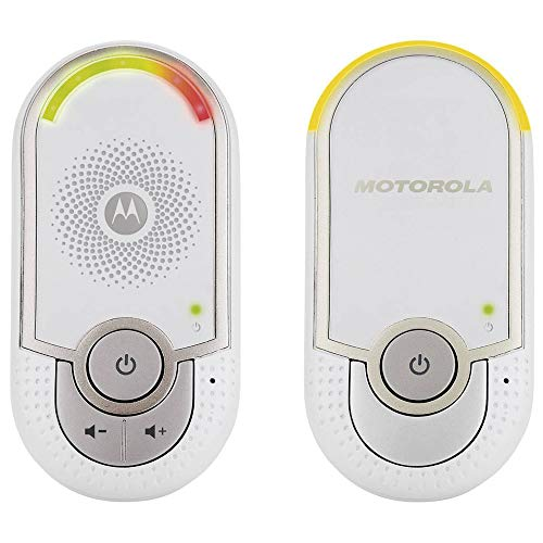 """Motorola MBP 8 - Vigilabebés audio """"plug-n-go"""" con modo eco y luz nocturna, color blanco"""