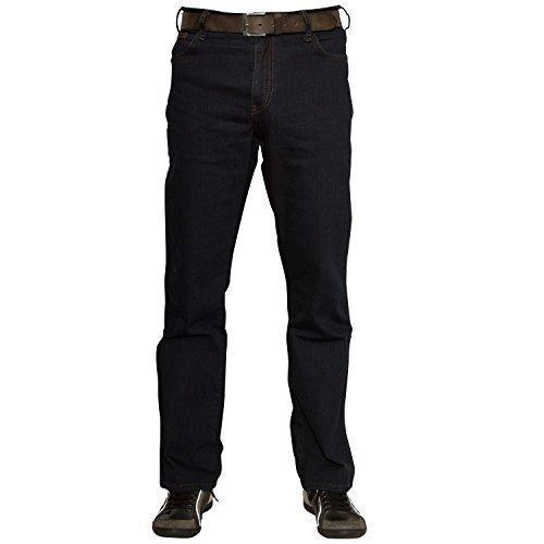 Wrangler Herren Texas Jeans, Tiefschwarz, 38W / 32L