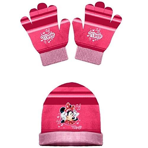 CAPPELLO E Guanti Invernali Minnie Mouse Bambina Disney Taglia Unica 3/10 Anni - 42238/2