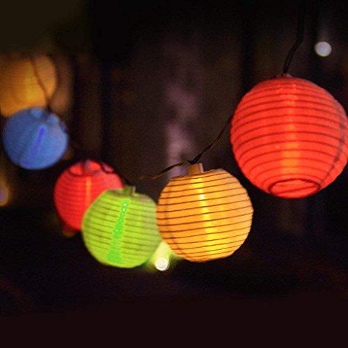 Eleganbello, Catena Luminosa, Striscia di Luci, 4m, 20 LED, Lanterne Colorate, Funziona con...
