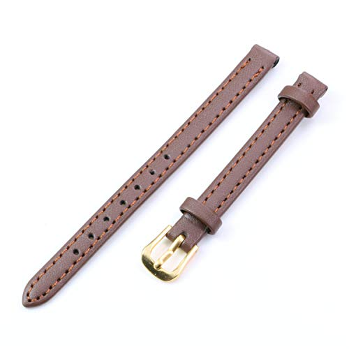 Cinturini per donna in pelle morbida vintage con cinturino in pelle sintetica argento/oro cinturino con fibbia cinturino cinturino 8mm Accessori marrone