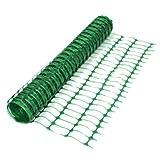 True Products-Filet B1001A en maille plastique pour clôtures, treillis, protection, rouleau de 50m, 5,5kg, vert