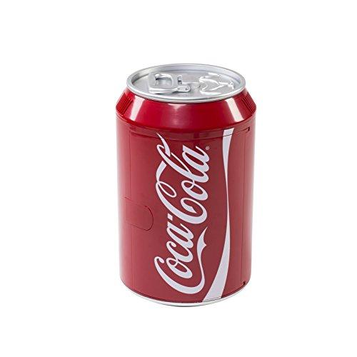 Coca-Cola 525600,Mini frigo a forma di lattina, altezza: 47,7cm / 12/230Volt/colore: rosso