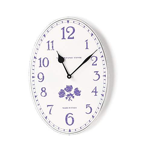 Orologio da parete shabby Valentino Time ovale