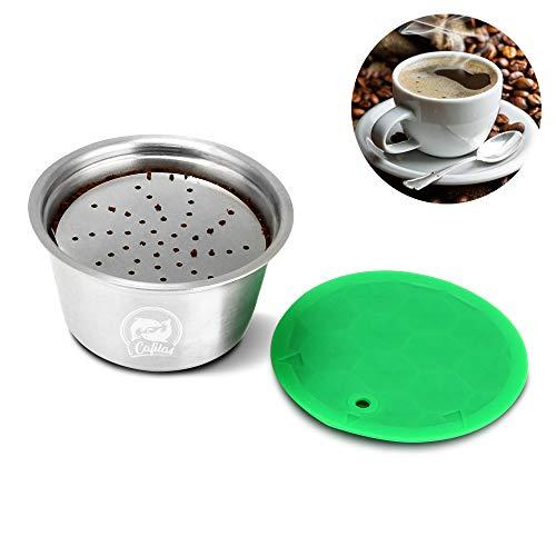 OurLeeme Capsula di caffè ricaricabile, tazza di filtro per caffè riutilizzabile in acciaio inox per Nespresso Dolce Gusto per caffè fragrante