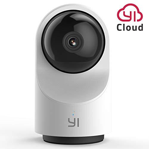 YI Telecamera Wi-Fi Interno 1080p Videocamera di Sorveglianza Full HD 360° PAN TILT con Notifiche di Movimento,Supporta Micro SD e Servizio Cloud