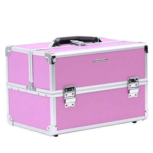 SONGMICS valigia beauty case valigietta cofanetto porta trucco make up bagaglio a mano organizzatore...