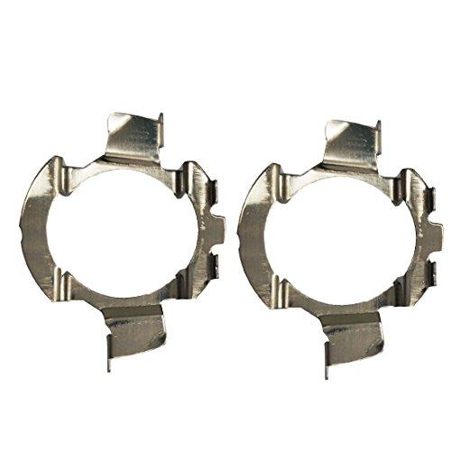 Supporto per adattatore per base lampadine a LED in metallo 2Pcs Supporto per adattatore per faro H7...
