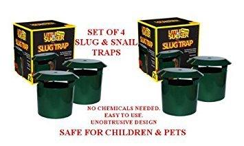 Set di 4 trappole di birra da giardino per lumacheNon è richiesta alcuna sostanza chimica.Sicuro per bambini e animali domestici.