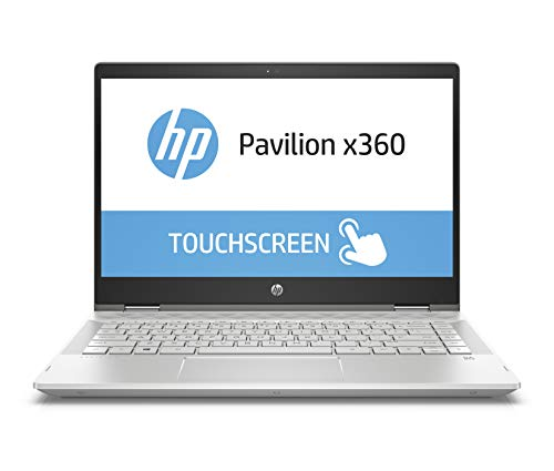 HP Pavilion x360 14-cd0201ng 35,56 cm (14 Zoll Full HD Touchdisplay) Notebook (Intel Core i5-8250U, 8GB RAM, 128GB SSD, 1TB HDD, Intel UHD Graphics 620, Windows 10 Home 64) silber