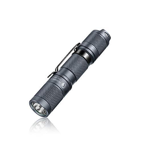 RISHIL WORLD Tool AA 2.0 Titanium Gray/White XP-L HD 550LM 3Modes AA/14500 Mini LED Keychain Light Portable EDC Flashlight Mini Torch Single Item.