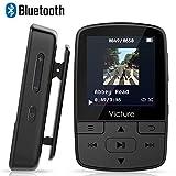 Victure Bluetooth MP3 Player 8GB Mini Sport Musik Player mit Clip, 30 Stunden Wiedergabe Musikplayer mit FM Radio, Unterstützt bis 64 GB SD Karte