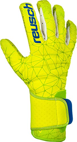 Reusch Pure Contact G3 Fusion - Guanti da Portiere da Uomo, Uomo, 3970900, Lime/Safety Yellow, 7.5
