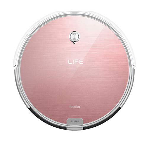 iLifeTM Robotic Vacuum Cleaner, X620 Robot Vacuum Smart Cleaning Sweeper for Hard Floor & Thin Carpet, Remote Operation, Infrared High Suction and Smart Mopping with Water Tank for Multi-Surface Floor Dust ( Rose Gold)