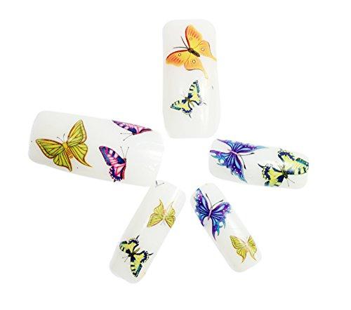 Demarkt 10X Nail Art Pegatina Cope Mariposa Stickers Decoración Uñas Manicura para Mujer