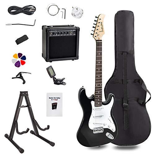 Display4top Kit per Chitarra Elettrica con amplificatore da 20 Watt, supporto per chitarra, borsa,...