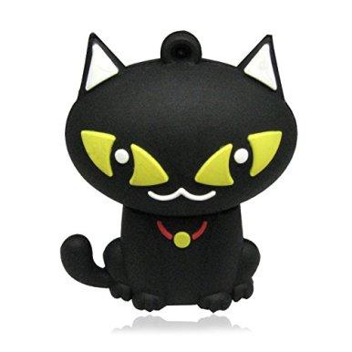 -Hi-Speed-USB-Sticks-248163264-GB-Seltsame-Katze-3D-schwarze Katze