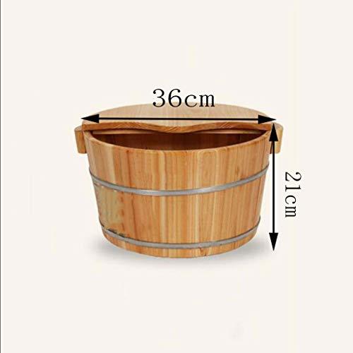 Tonneau de bain de pieds Bain de pieds Bois de haute qualité Soins des pieds Bain de pieds Sauna Bassin de trempage des pieds Bassin de mass... 22