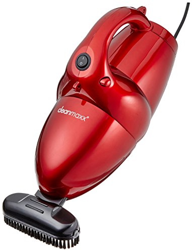 CleanMaxx 01375 Power Plus - Aspiradora de mano 800W, 2 en 1, con la función de ventilador adicional, color rojo
