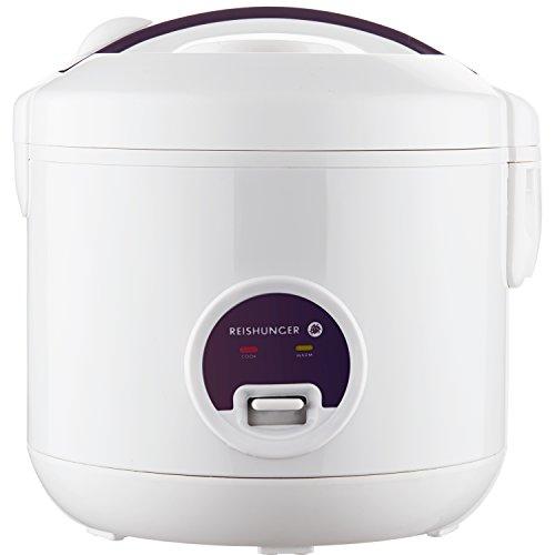 Reishunger Cuociriso (1,2l/500W/220V) con Funzione scaldavivande, pentola Interna di Alta qualità,...