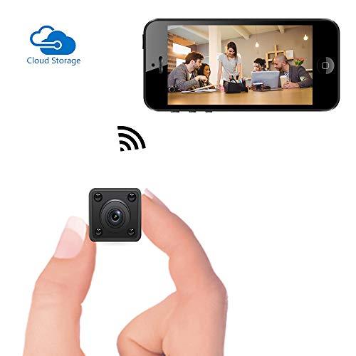 Mini Telecamera Spia WiFi, Videocamera con Senza Fili Nascosta Bysameyee 720P con Visione Notturna di Sicurezza Interna/Rilevazione di Movimento, Microcamera di Sicurezza IP per iPhone Android