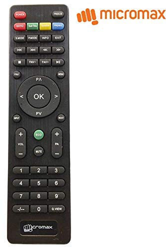 Genuine Micromax Universal LED/LCD TV Remote Control | 1 Year Complete Warranty.