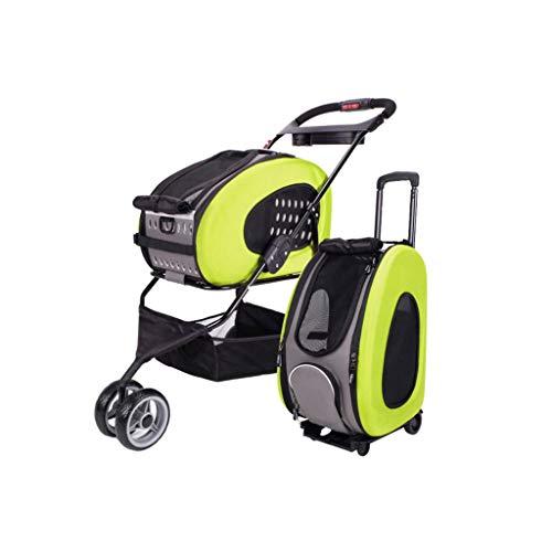 NYJ Passeggino per Cani Trolley per Cani 5 in 1 Pet Buggy Pieghevole per Animali Domestici Passeggino Carrozzina per Cani e Gatti (Color : A)