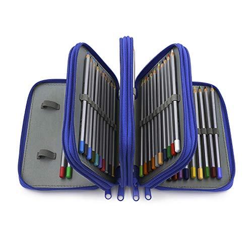 Astuccio per 72 matite colorate, in Oxford, di grande capacità, astuccio scolastico, multifunzione,...