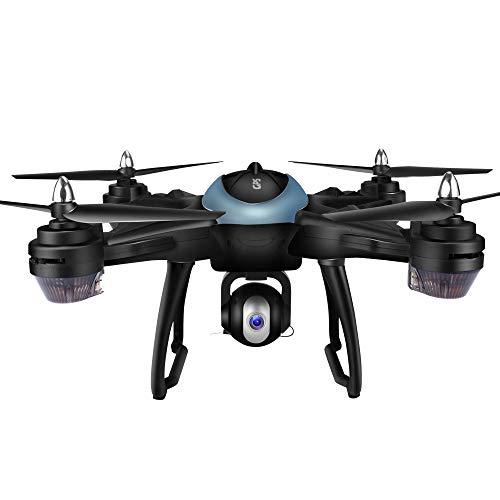 Yesmile Drone Quadcopter GPS Telecamera 1080P HD Drone Professionale GPS con Grandangolare Regolabile Camera HD WiFi FPV Quadricottero Funzione Seguimi modalità Senza Testa