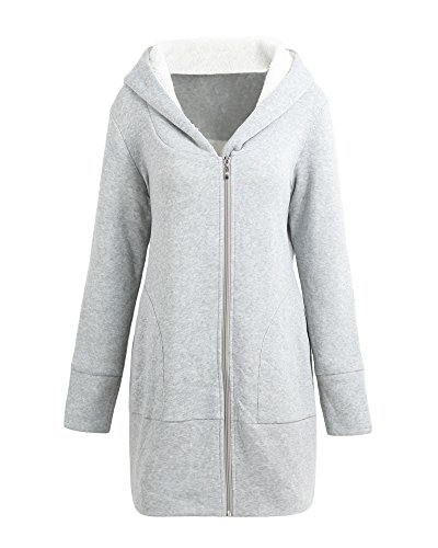 66a87e4b51d Romacci Women Zip up Hoodies Coat Warm Fleece Coat Outerwear Hooded  Sweatshirts Casual Long Jacket Plus Size - SixtySomething - Over Sixty  Lifestyle ...