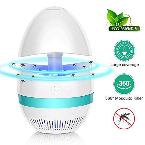 Lampada Antizanzare Elettrico, Trappola Zanzare Anti Insetti, USB Lampada Repellente Zanzariera...