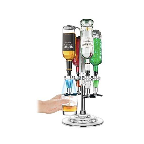 Bar Butler Flaschenbutler Flaschenhalter und Dosierer Licht-up-Bar Caddy Getränkeportionierer für 4 Flaschen Schnaps Cocktail Party Geschenk Getränkespender Hausbar Cocktailbar Schnapsspender
