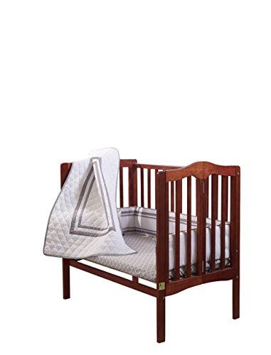 Baby Doll Bedding Soho Mini Crib/Port-a-Crib Bedding Set with 100% Cotton Trellis Design Sheet, Grey