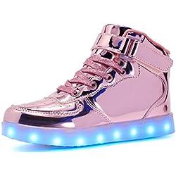Voovix LED Zapatos con Mando a Distancia para Niños y Niñas (Rosado01, EU32/CN32)