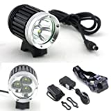 i-Horizon Plus 3x CREE XML T6 LED Bicycle Headlight 4 Modes 3800 Lumens + battery + charger