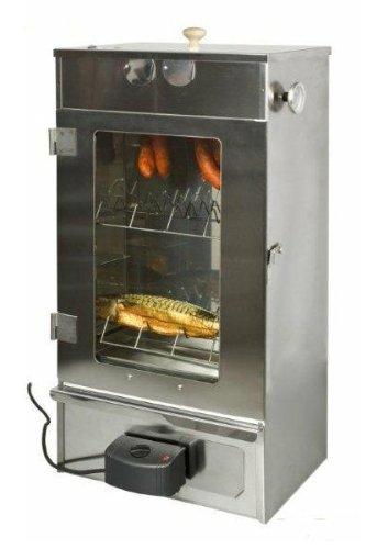 Euro Windkat GmbH - Affumicatore elettrico con griglia, zincato, con sportello in vetro