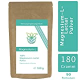 VITARAGNA Magnesium L-Lactat Pulver, Magnesiumsalz mit L-Milchsäure, 180 g vollständig umgesetztes Magnesium als leicht lösliches Magnesiumlactat