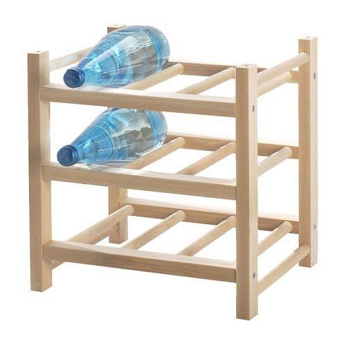 Ikea Hutten-Portabottiglie Cantinetta per 9bottiglie in legno massiccio-espandibile