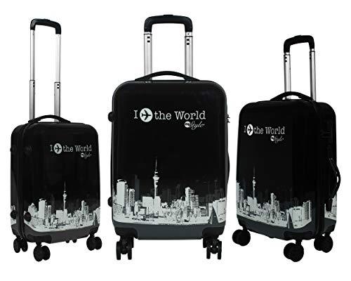 Tramp & Badger Polycarbonate Multicolor 360° Rotating Wheels, Trolley Bag - Set of 3