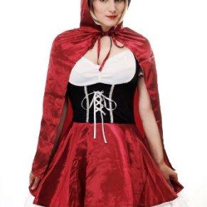 DRESS ME UP - L064/36 Disfraz Mujer caperucita roja barroco gótico Lolita cuento talla 36/S